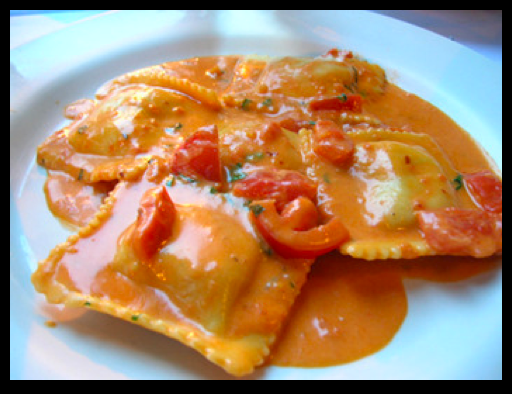 Foodie Friday: Lobster Ravioli in Tomato Cream Sauce with Shrimp